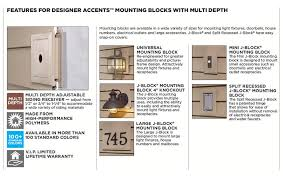how to install vinyl siding light mounting blocks mastic universal j block square mounting block ply gem accents