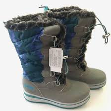 s khombu boots size 9 khombu kiara blue combo boys thermal winter