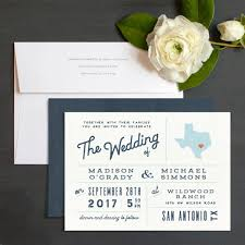 Wedding Invitations San Antonio State Love Wedding Invitations