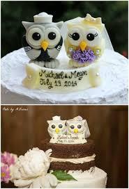 owl wedding cake topper birds owls wedding cake topper navy for groom