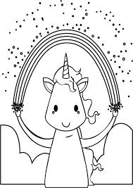 coloring pages unicorn rainbow virtren com