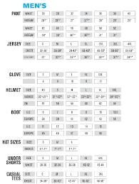 motocross helmet sizing size chart