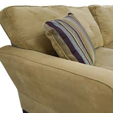 Slipcovers For Loveseats With Two Cushions 71 Off Beige Two Cushion Couch With Toss Pillows Sofas