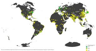 World Map Lagos by Mapped The World U0027s Fastest Growing Cities