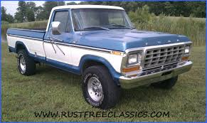 truck ford blue 1979 79 f350 1 ton regular cab 4x4 dana 60 blue white