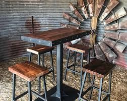 Bar Table And Stool Bar Stool Etsy