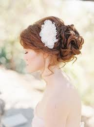 silk chiffon petals beaded lace bridal hair comb wedding hair