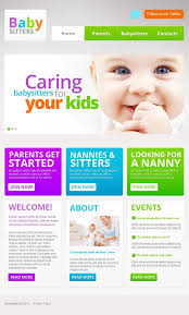 website template 45460 babysitter directory children custom