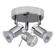 searchlight 7443cc aries 3 light chrome bathroom spotlight ip44