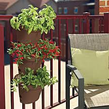 fiskars hanging self watering planter railing u0026 hanging planters