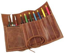 cool pen holders amazon com rustic genuine leather pencil roll pen and pencil