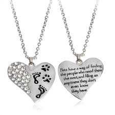 necklace with heart pendant images Pets have a way quot paw claw footprint on heart pendant necklace jpg