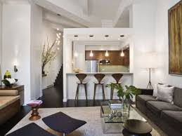 interior modern apartment design cream sofas glass wall
