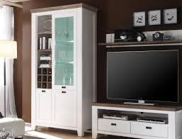 Esszimmer Akazie Weiss Vitrine Barnelund 120x210x45 Cm Akazie Weiß Glasschrank Wohnzimmer