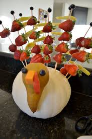 Thanksgiving Centerpieces Strawberry U0026 Blueberry Recipes Fruit Turkey Centerpieces And