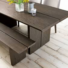 grey oak dining table and bench firenze weathered oak and soft grey dining table bench