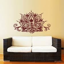 popular bohemian wall decals buy cheap bohemian wall decals lots lotus flower wall decal yoga studio vinyl sticker decals mandala ornament moroccan pattern namaste home decor