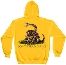 Yellow Flag With Snake Don U0027t Tread On Me Yellow Hooded Sweat Shirt North Bay Listings