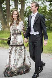 pippa middleton almost upstages bride in floor length erdem