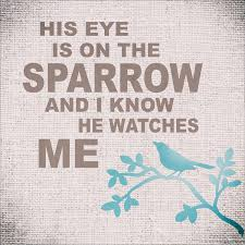 his eye is on the sparrow reusable stencil sizes available create