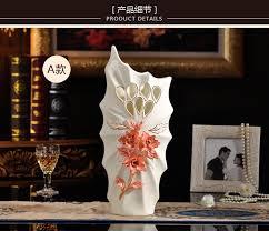 ceramic red white mask flowers vase home decor large floor vases