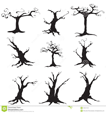 halloween background white tree silhouette isolated on white background royalty free stock
