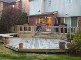easy deck designs backyard deck with mini pool design ideas easy