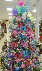 brightly colored decorations baton trees