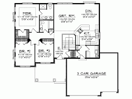 open floor plan ranch homes eplans ranch house plan open floor plan 1664 square and 3