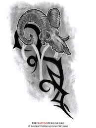 35 aries tattoos ram designs