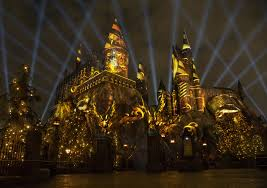 nighttime lights at hogwarts castle coming to ush