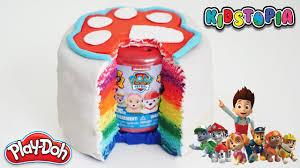 paw patrol mashems rainbow play doh cake surpise toy