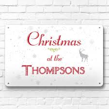 plaque alu decorative personalised christmas at the metal sign decoration