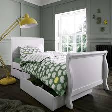 buy bailey sleigh single bed white online izziwotnot