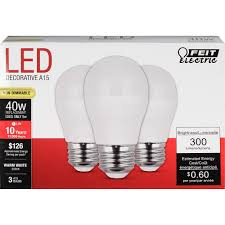 led a15 3 pack 5 watts 40 watt equivalent 300 lumens