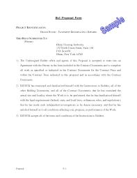 Free Blank Gift Certificate Templates Bid Proposal Form