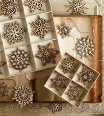 snowflake ornaments create a wooden of delicate birch
