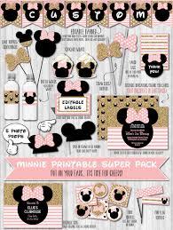 minnie party decor pack gold glitter u0026 blush pink u2013 wonderbash
