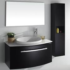bathroom contemporary bathroom vanity cabinets with round sink