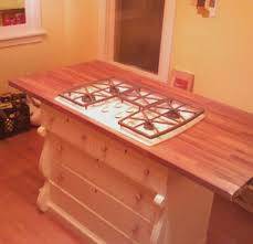 Kitchen Island Out Of Dresser - kitchen island created out of an old dresser plumbed with gas