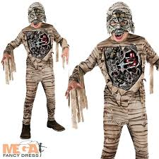 Boys Scary Halloween Costumes Scary Mummy Light Boys Fancy Dress Halloween Childs Costume