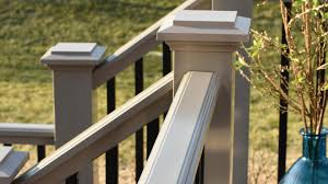 How To Build A Deck Handrail Radiancerail Express Composite Deck Railing Timbertech