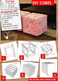 How To Make An Ottoman Out Of A Coffee Table White Upholstered Cubes Diy Projects