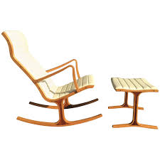 Rocking Chair With Ottoman For Sale Tendo Mokko Heron Rocking Chair And Footrest For Kosuga Japan For