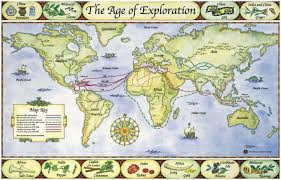 Columbian Exchange Map Age Of Exploration Map Project Teacherlingo Com