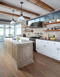 20 minimalist kitchens with exposed brick walls home design and