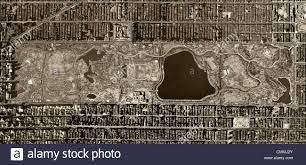 Map Central Park Aerial Photo Map Central Park Manhattan New York City 1954