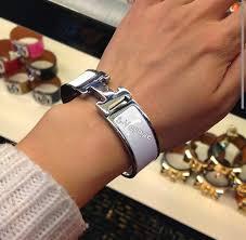 hermes bracelet white images Always authentic s voyage hermes clic h bracelet in white jpg