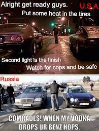 Racing Memes - street racing usa vs russia
