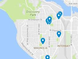 seattle map discovery park series of arson fires seen in magnolia neighborhood seattle